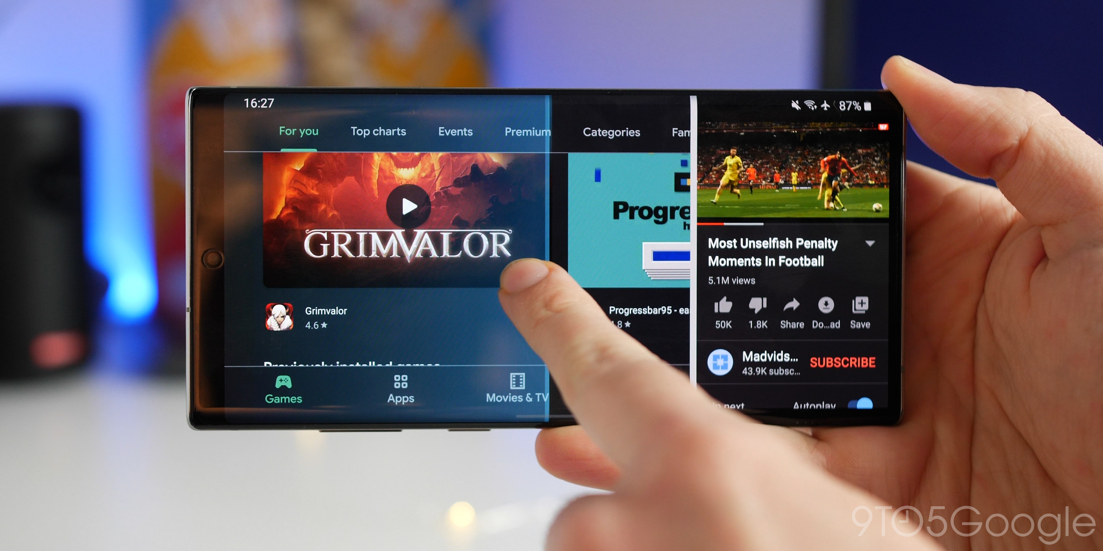 How to enable split screen multitasking in Android 10