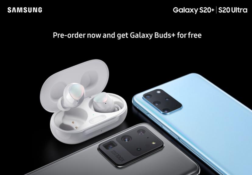 galaxy s20 pre-order bonus galaxy buds+
