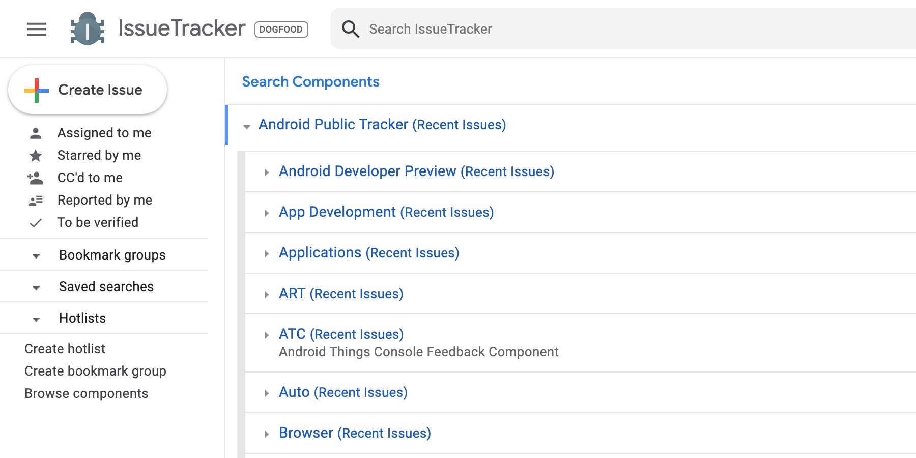 Google Issue Tracker testing Material Theme redesign - 9to5Google