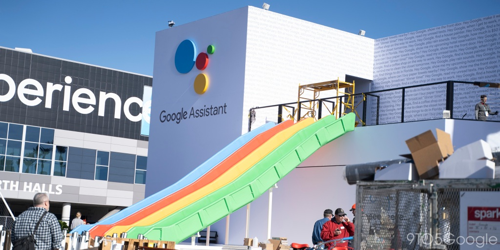 Google sets up shop at CES 2020 w/ outdoor booth and yes, there's a slide [Gallery]