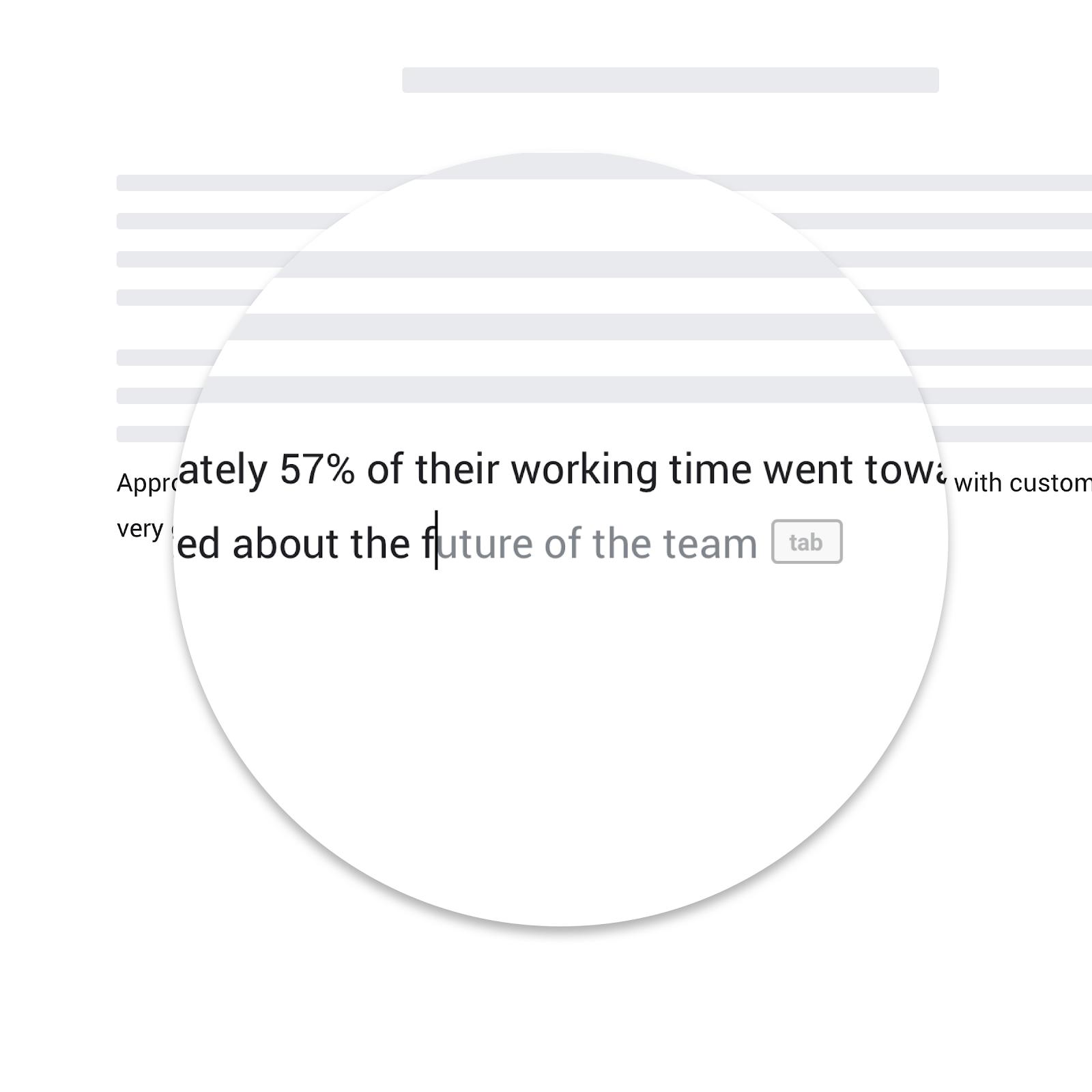 Google Docs Smart Compose