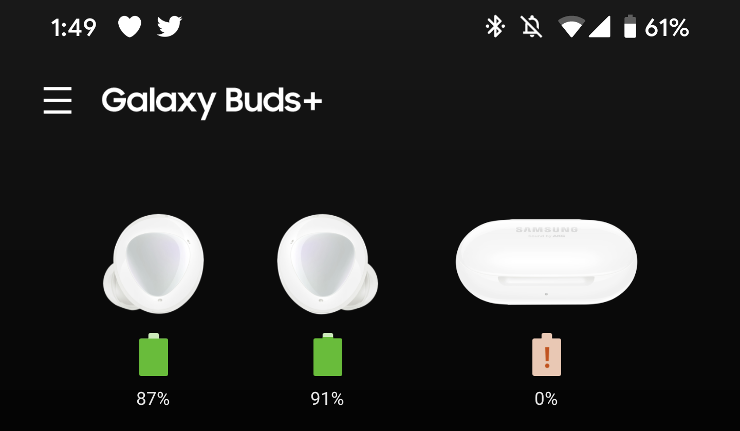 samsung galaxy buds+ battery life