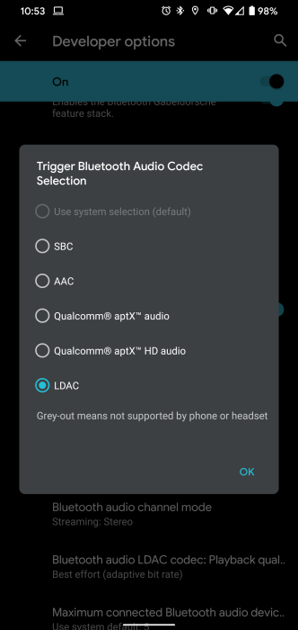 Android 11 DP1: You can now see the codecs your Bluetooth headphones support - 9to5Google