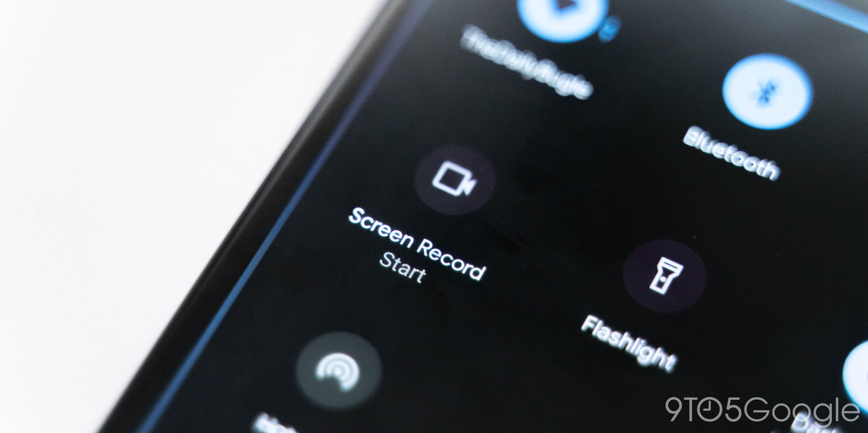 Android 11 DP1: Bildschirmrekorder kommt mit dem Umschalten der Schnelleinstellungen an