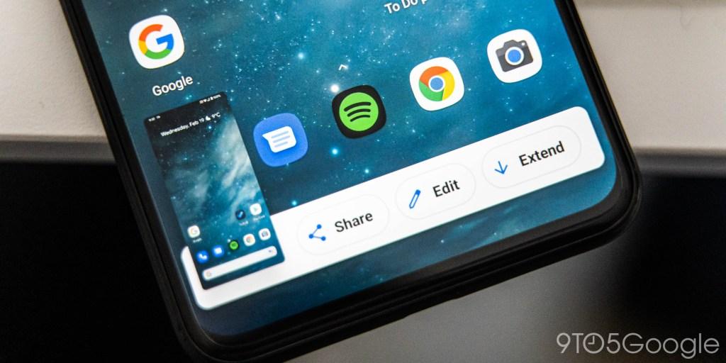 Android 11 DP1: Google prepares scrolling screenshots w/ revamped UI [Video] - 9to5Google