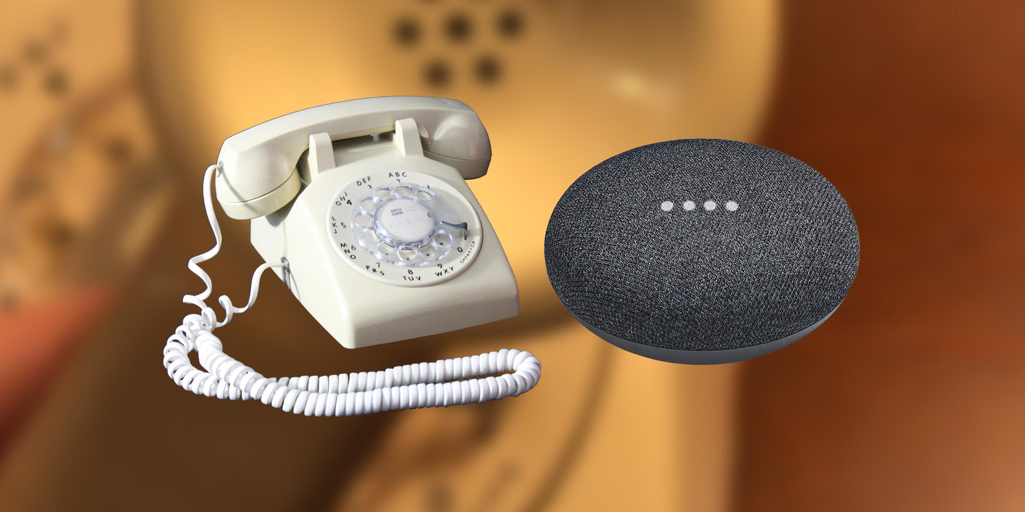 Mod steckt Google Home Mini in ein Telefon mit Wählscheibe, damit Sie den Assistenten auflegen können