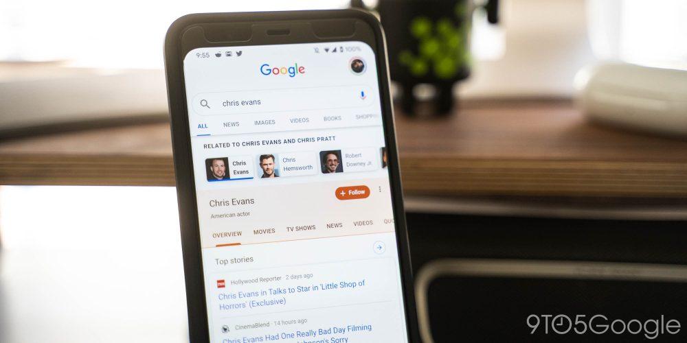 Google Search profile cards