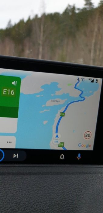 Android Auto Google Maps speed limits - Norway