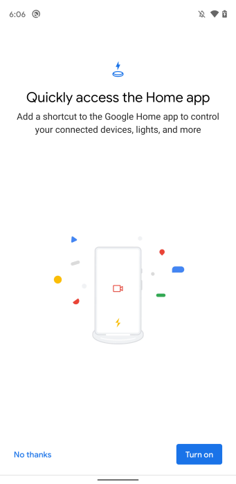 Pixel Stand Google Home controls onboarding