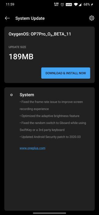 OxygenOS Open Beta 11