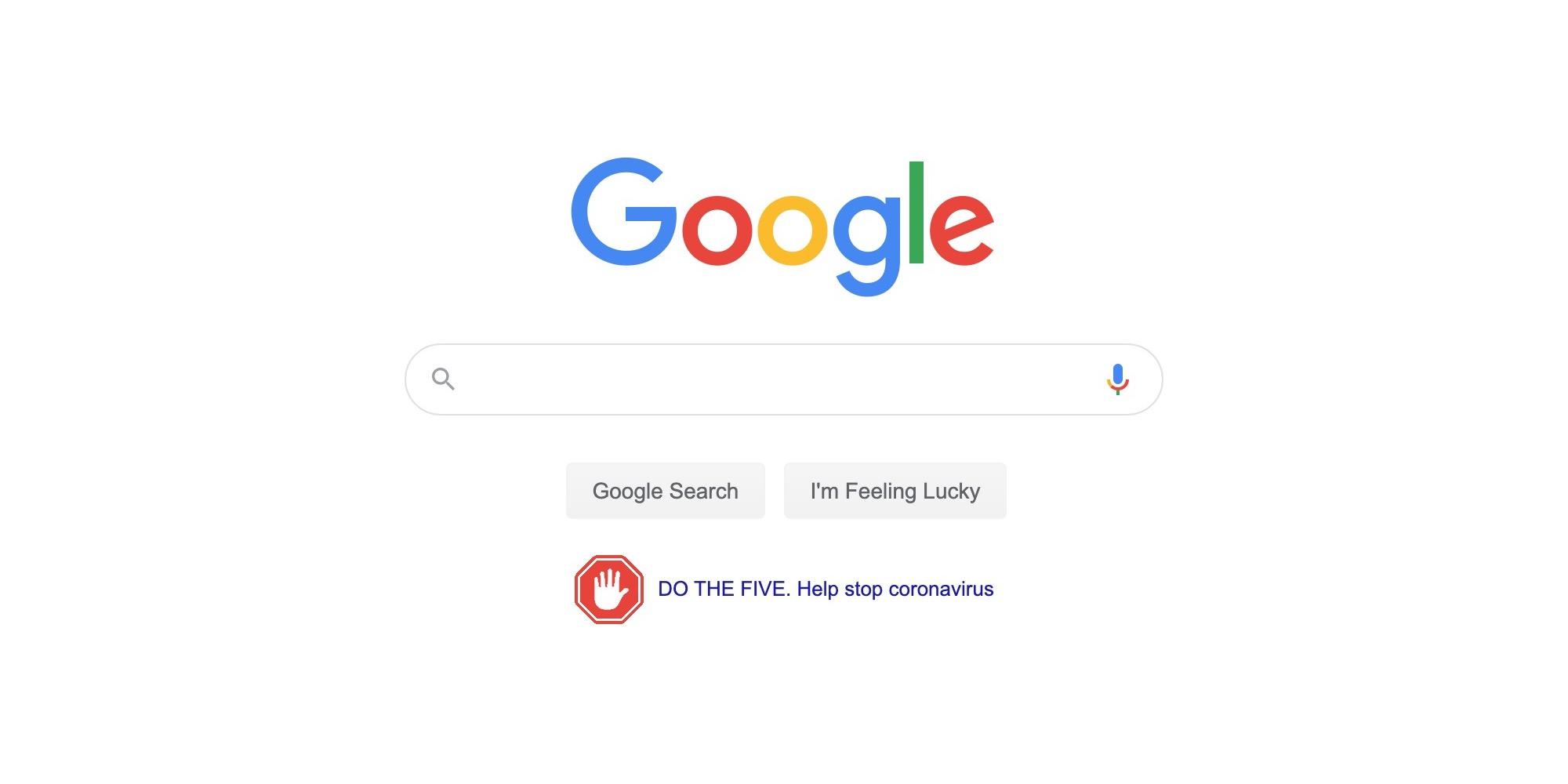 Google sends out 'Help stop coronavirus' tips in prominent PSA push thumbnail