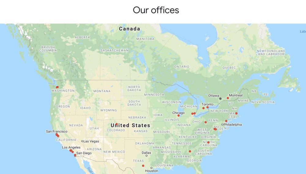 Google North America coronavirus