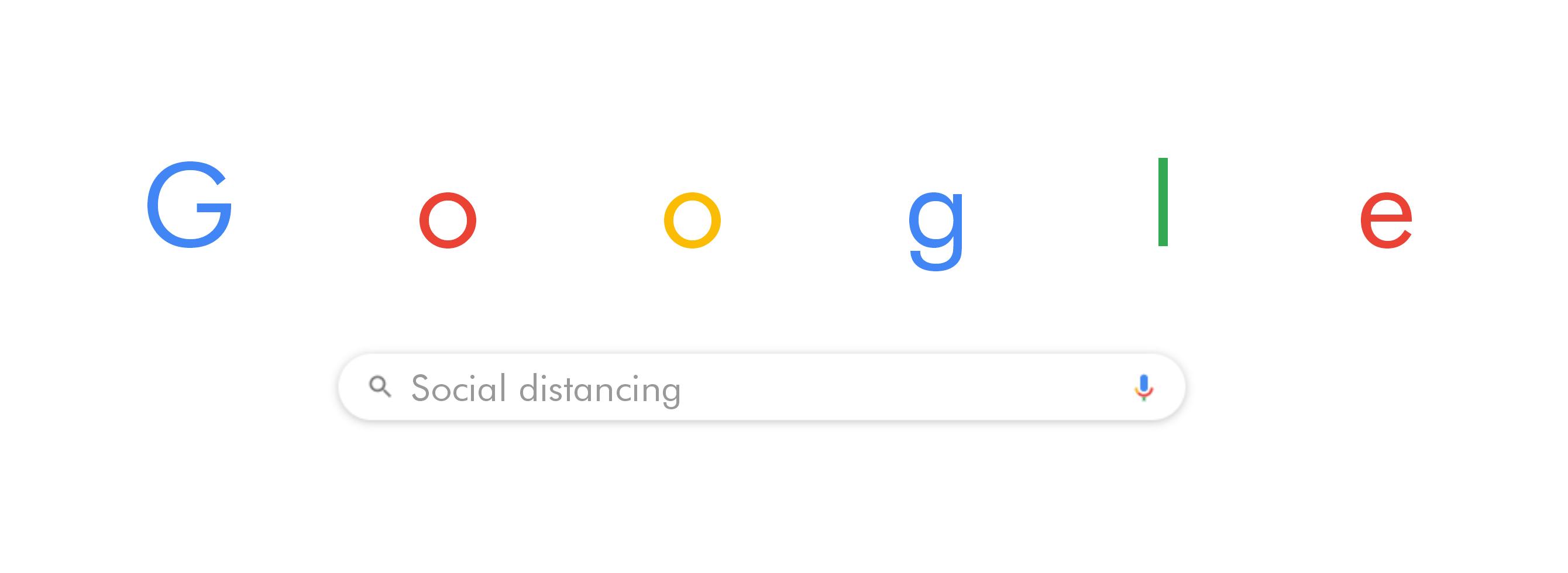 google doodle social distancing concept