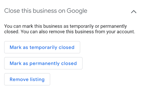 google maps temporarily closed