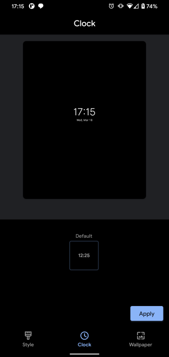 pixel lockscreen clock