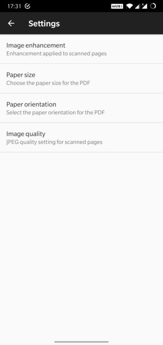 Google Drive document scanner
