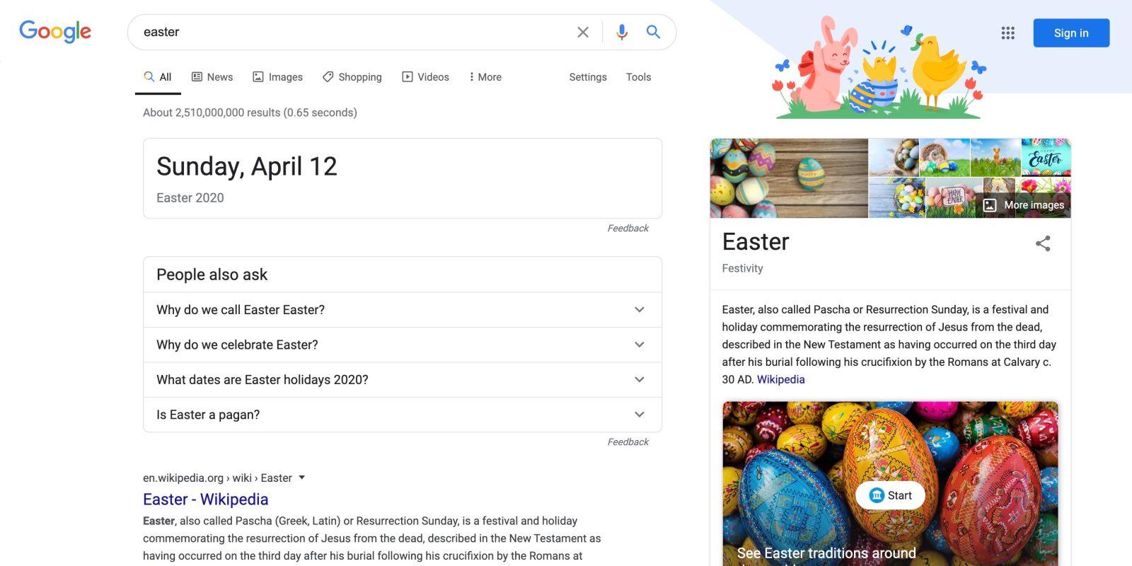 Easter Eggs Google 2020