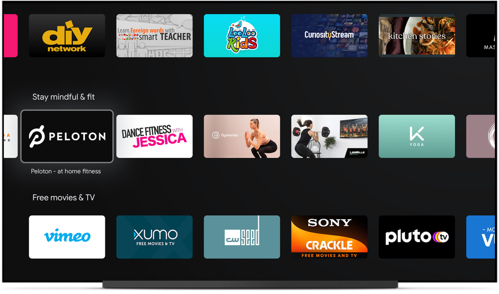 android tv fitness app row stay mindful and fit
