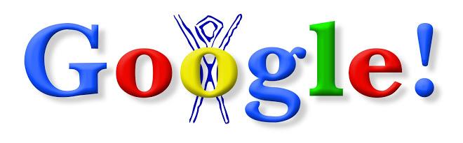 first google doodle 1998 burning man