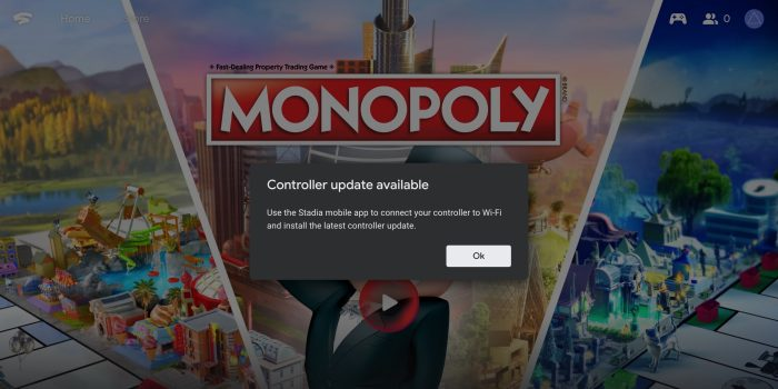 install Stadia Controller update