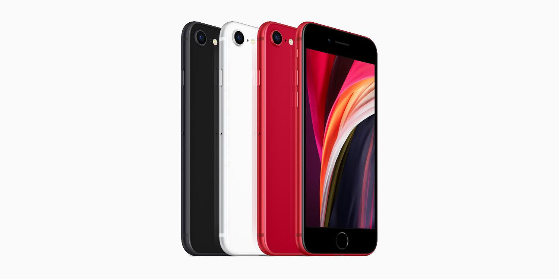 apple iphone se black white red