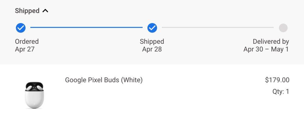 Pixel Buds shipping