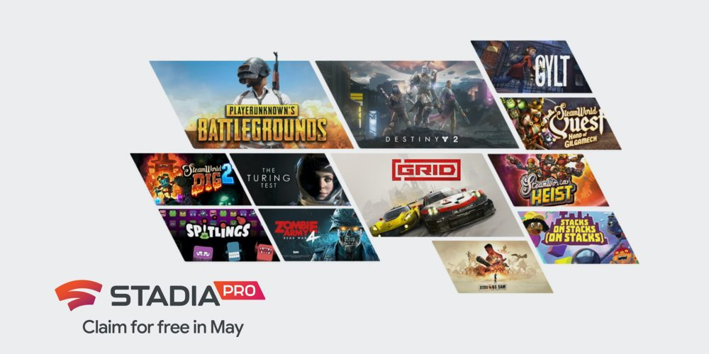 Stadia Pro May 2020 games