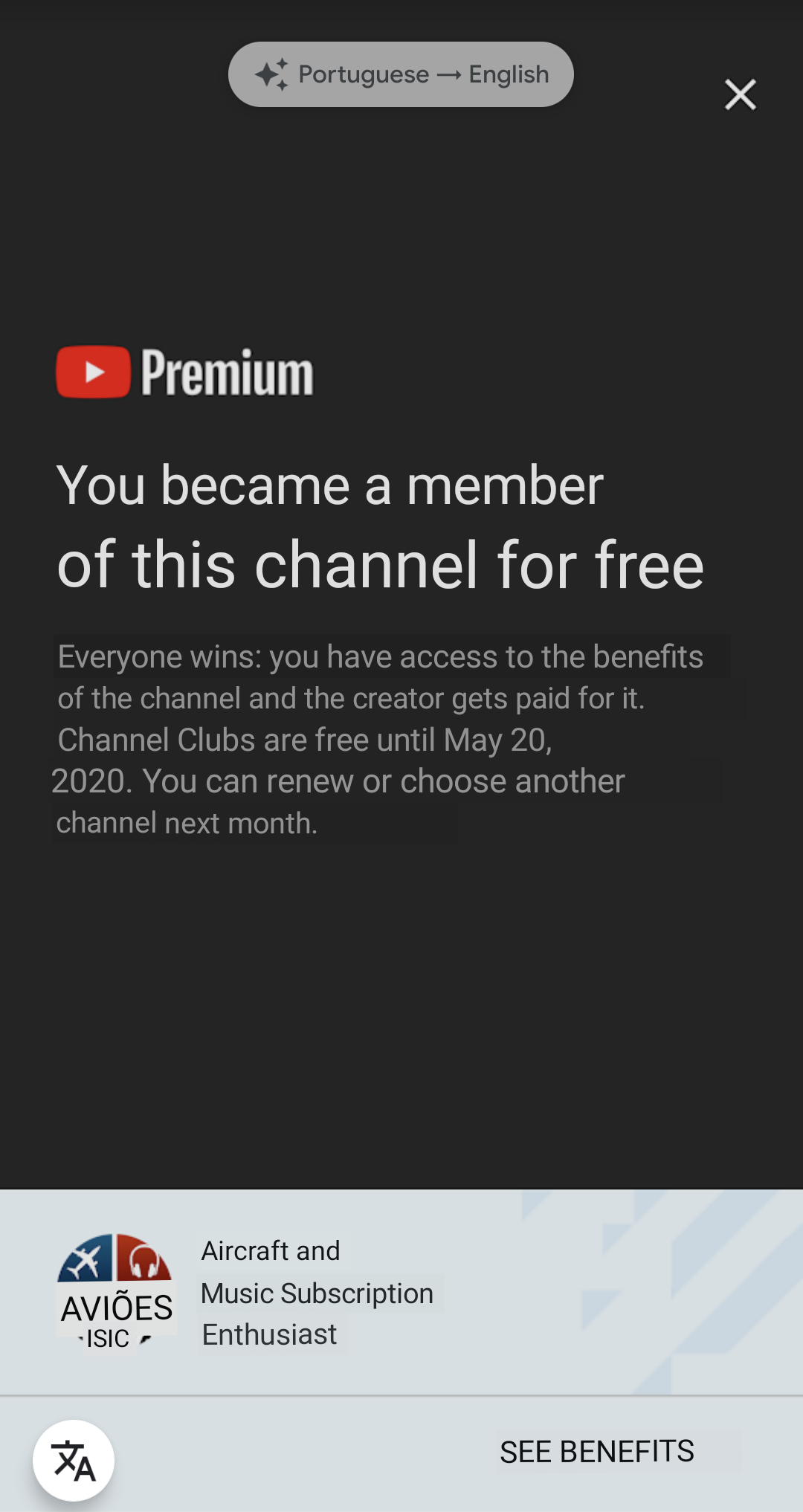 Youtube Premium Subscribers Get Free Channel Membership 9to5google