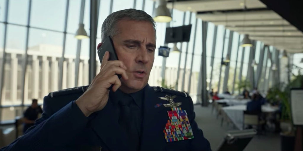 Steve Carell uses Google Pixel 3 XL and BlackBerry KeyOne in Netflix's 'Space Force' - 9to5Google