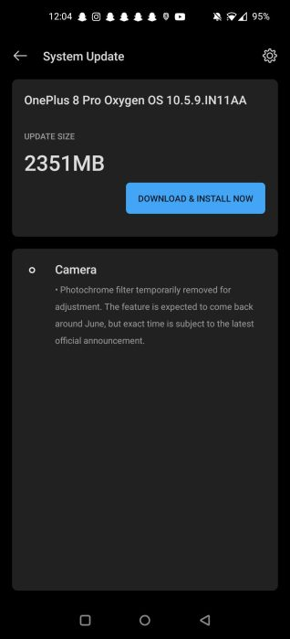OxygenOS 10.5.9 OTA update