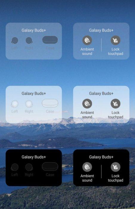 Galaxy buds widget