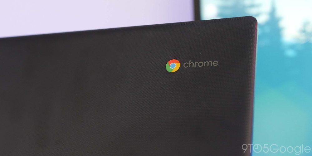 Chrome logo on a Chromebook