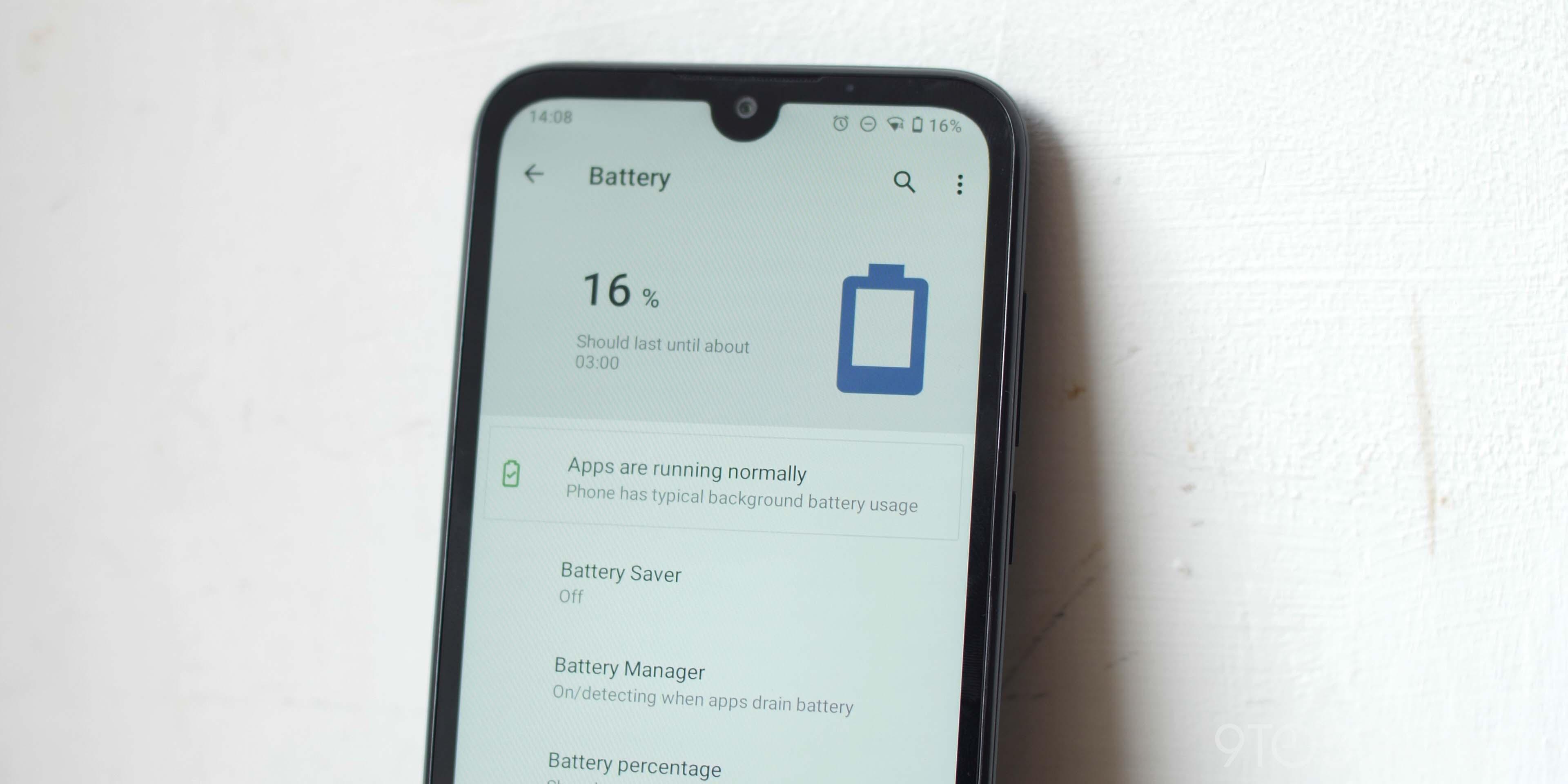 Nokia 1.3 battery