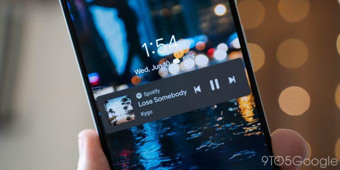 android 11 lockscreen media controls