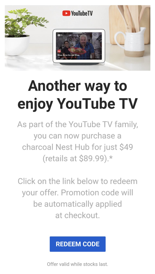 Youtube Tv Subscribers Can Save On A Google Nest Hub 9to5google