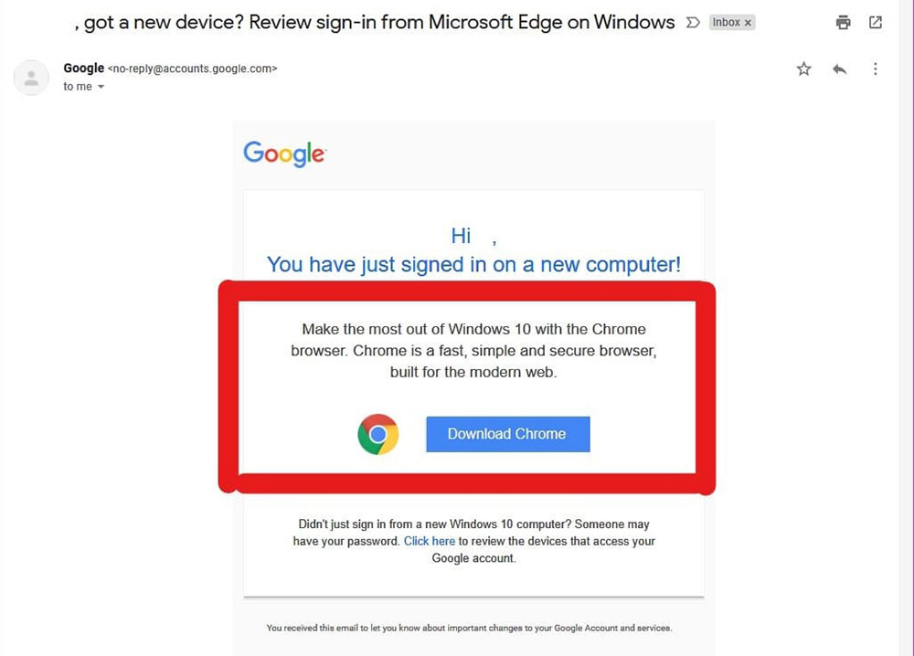 gmail microsoft edge sign-in alert message