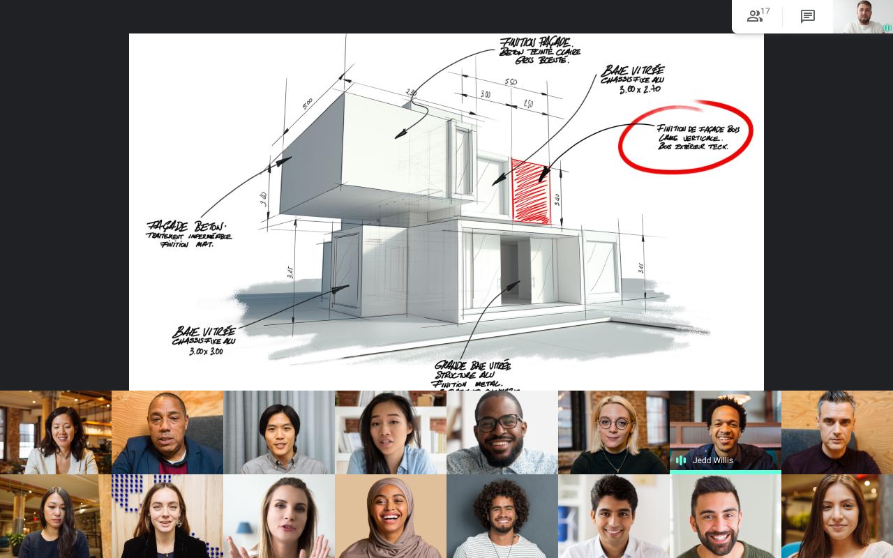 Google Meet tiled presentations