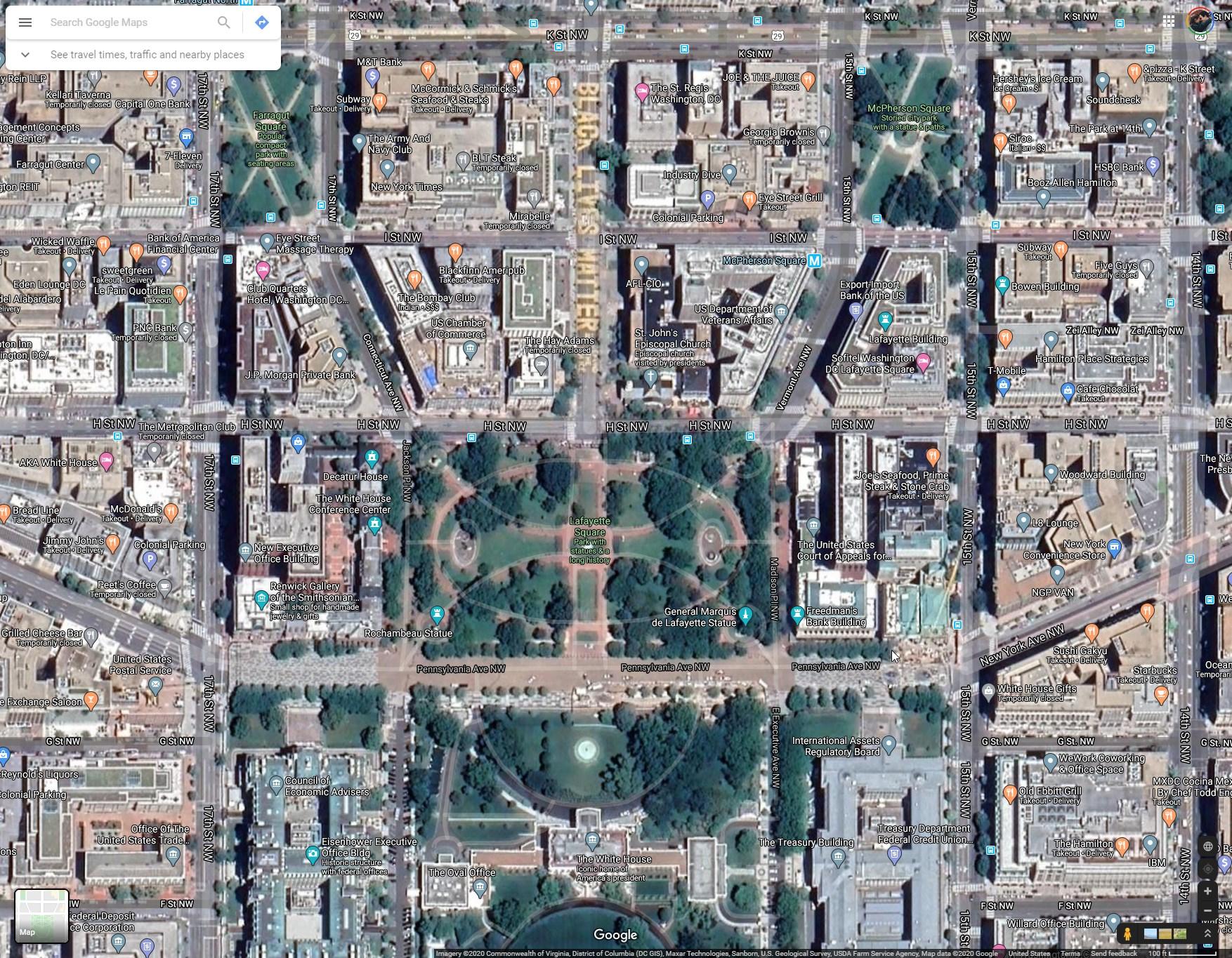 google maps black lives matter mural