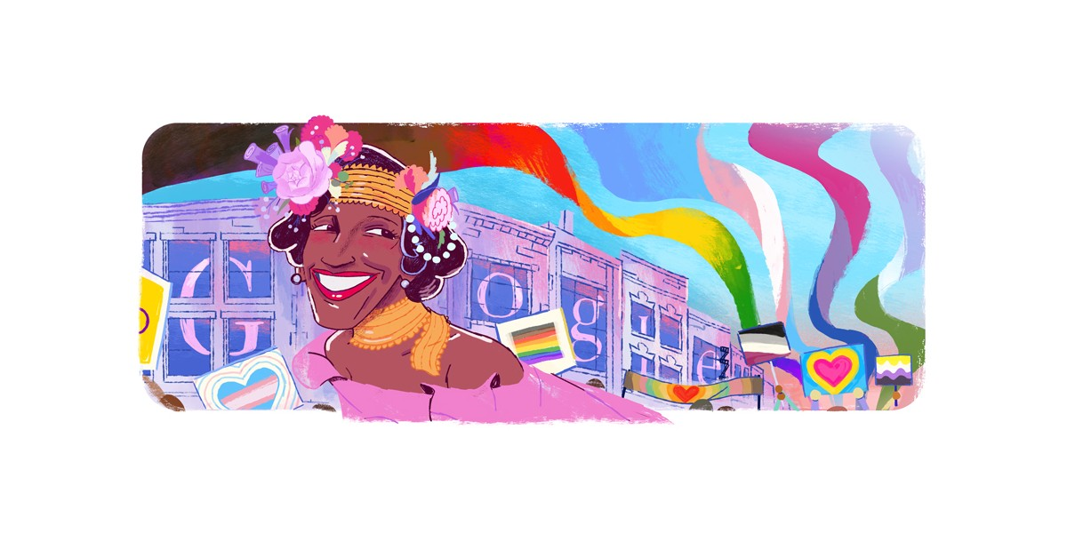 Google Doodle honors LGBTQ+ activist Marsha P. Johnson to close out Pride Month