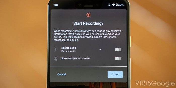 android 11 beta 2 screen recorder internal device audio