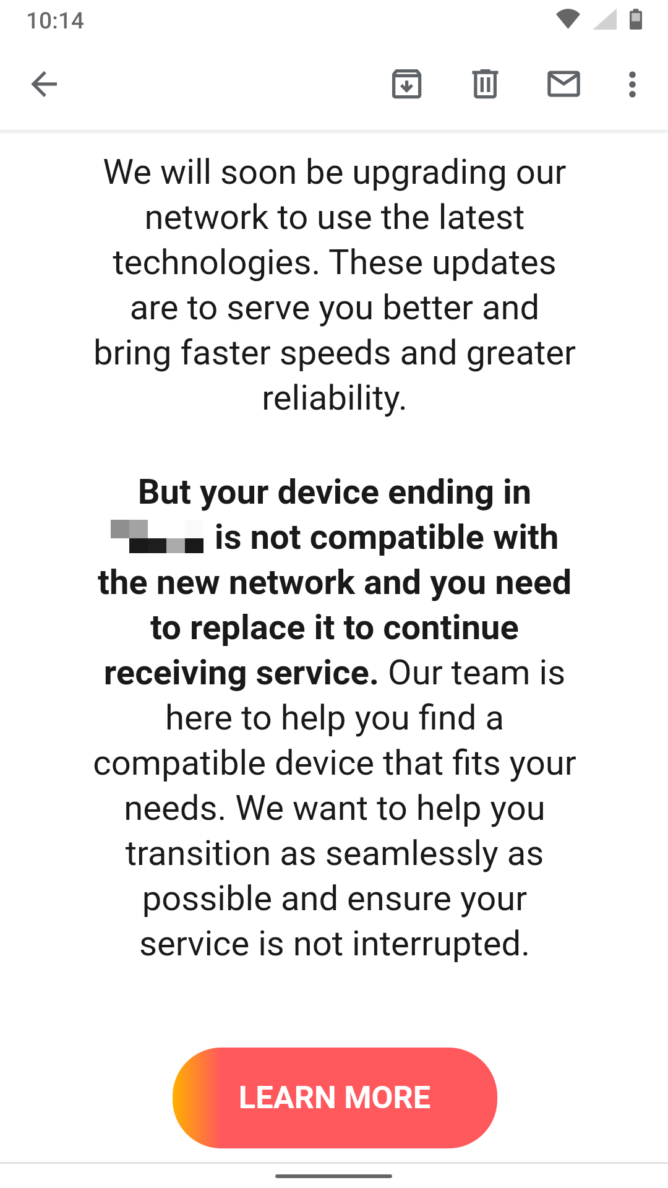 at&t upgrade email