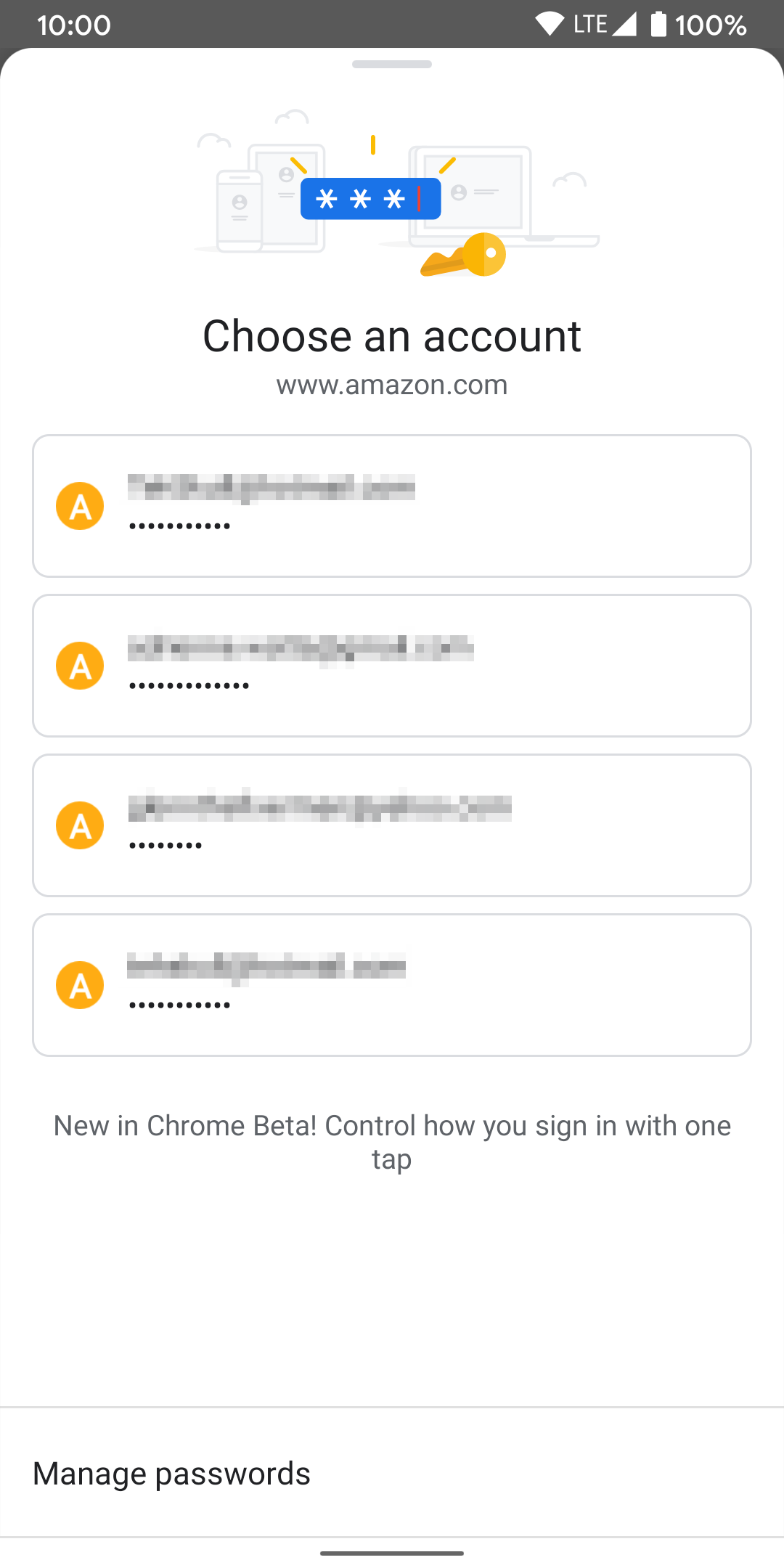 Chrome Android Touch to Fill
