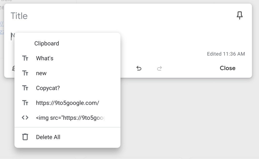Chrome OS Clipboard Manager