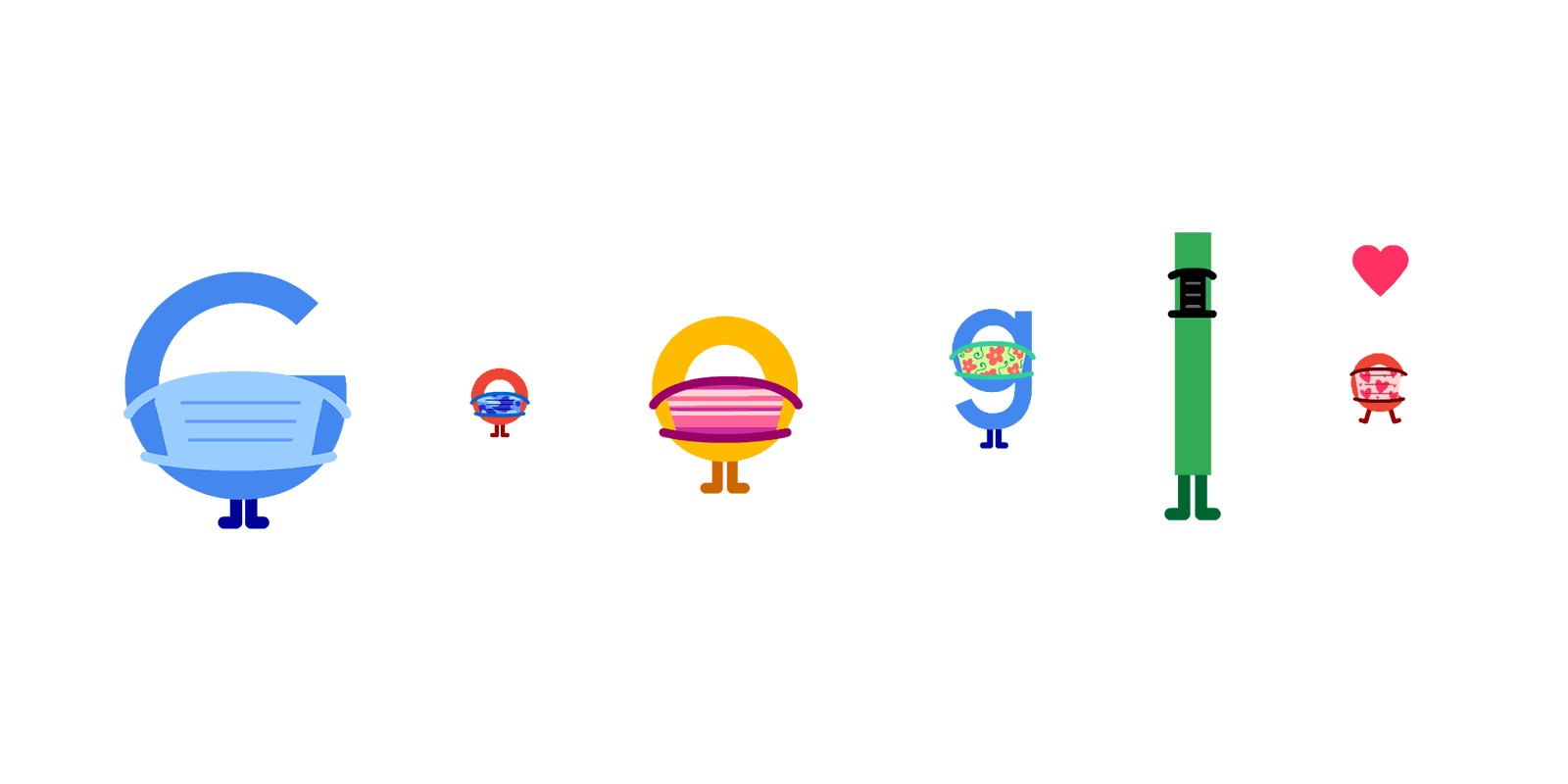 Google Doodle promotes COVID-19 prevention w/ masks and social distancing - 9to5Google