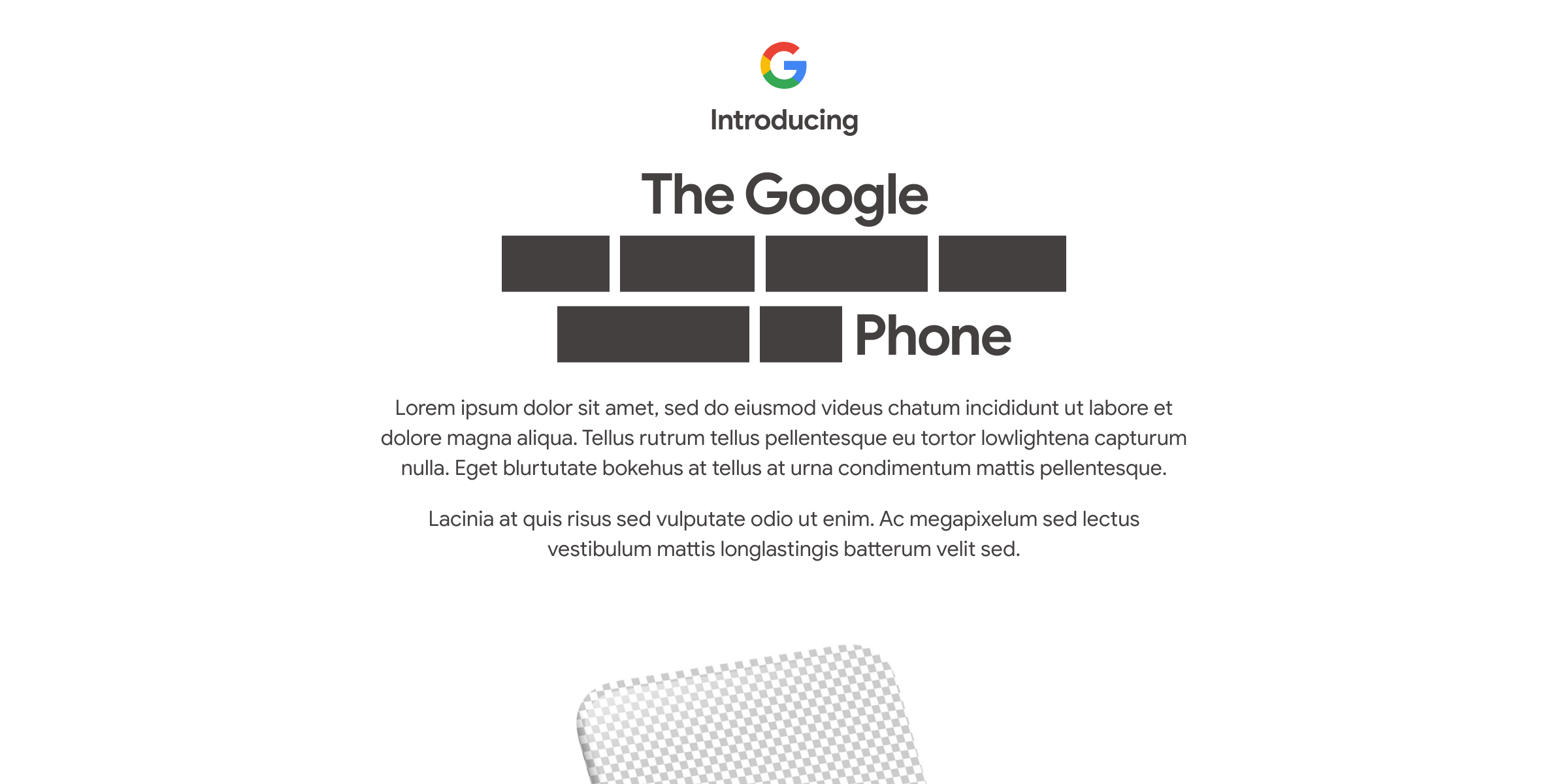Google teases Pixel 4a unveil on August 3 with 'lorem ipsum' – 9to5Google