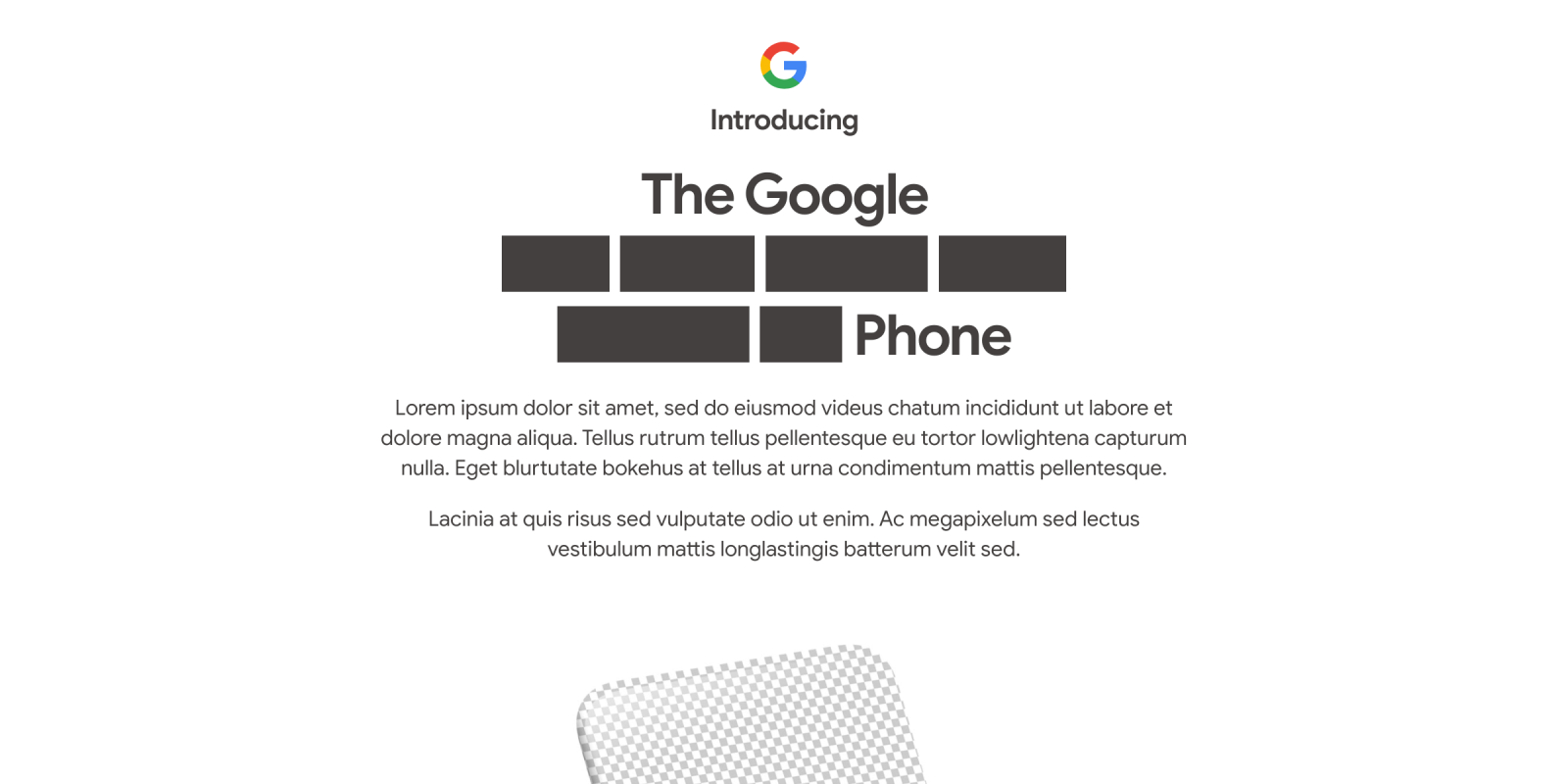 Google teases Pixel 4a unveil on August 3rd with 'lorem ipsum'