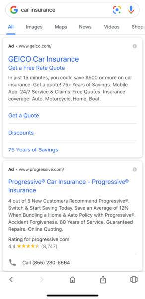 google search bigger ad text