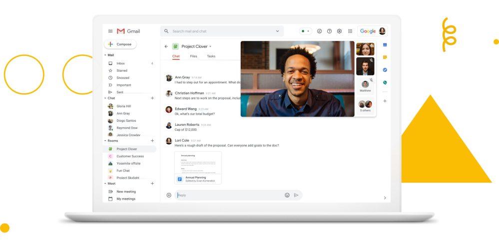 Cómo activar las nuevas pestañas de Gmail con Google Meet