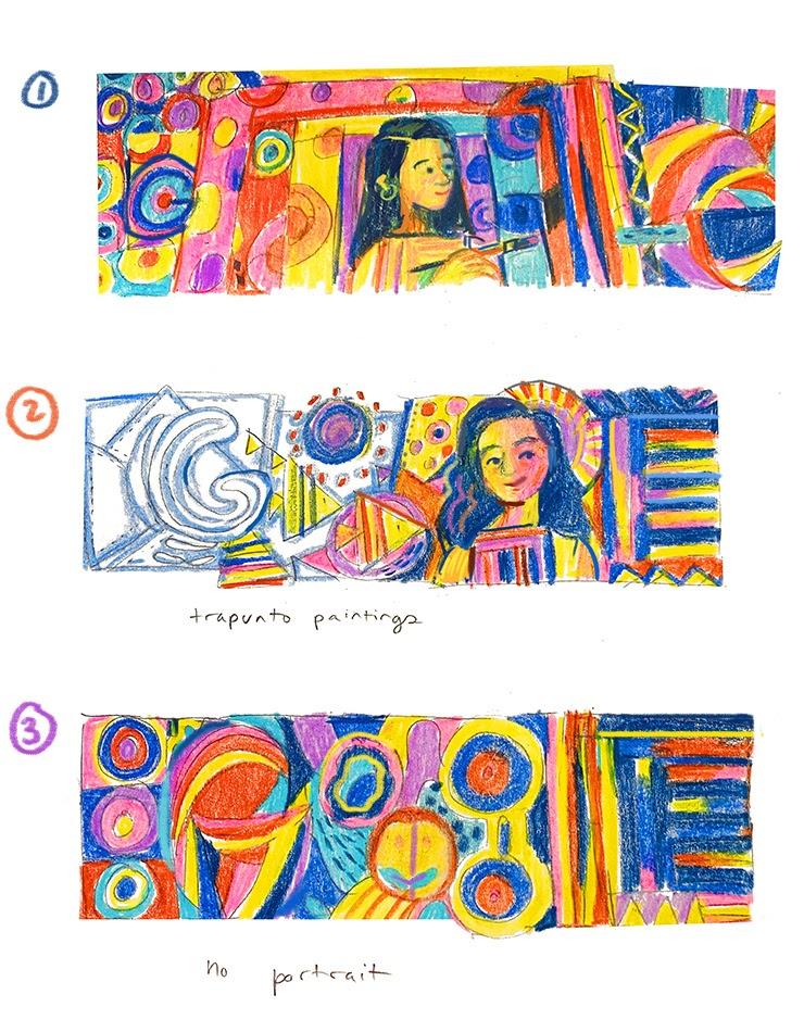 Pacita Abad Google Doodle drafts