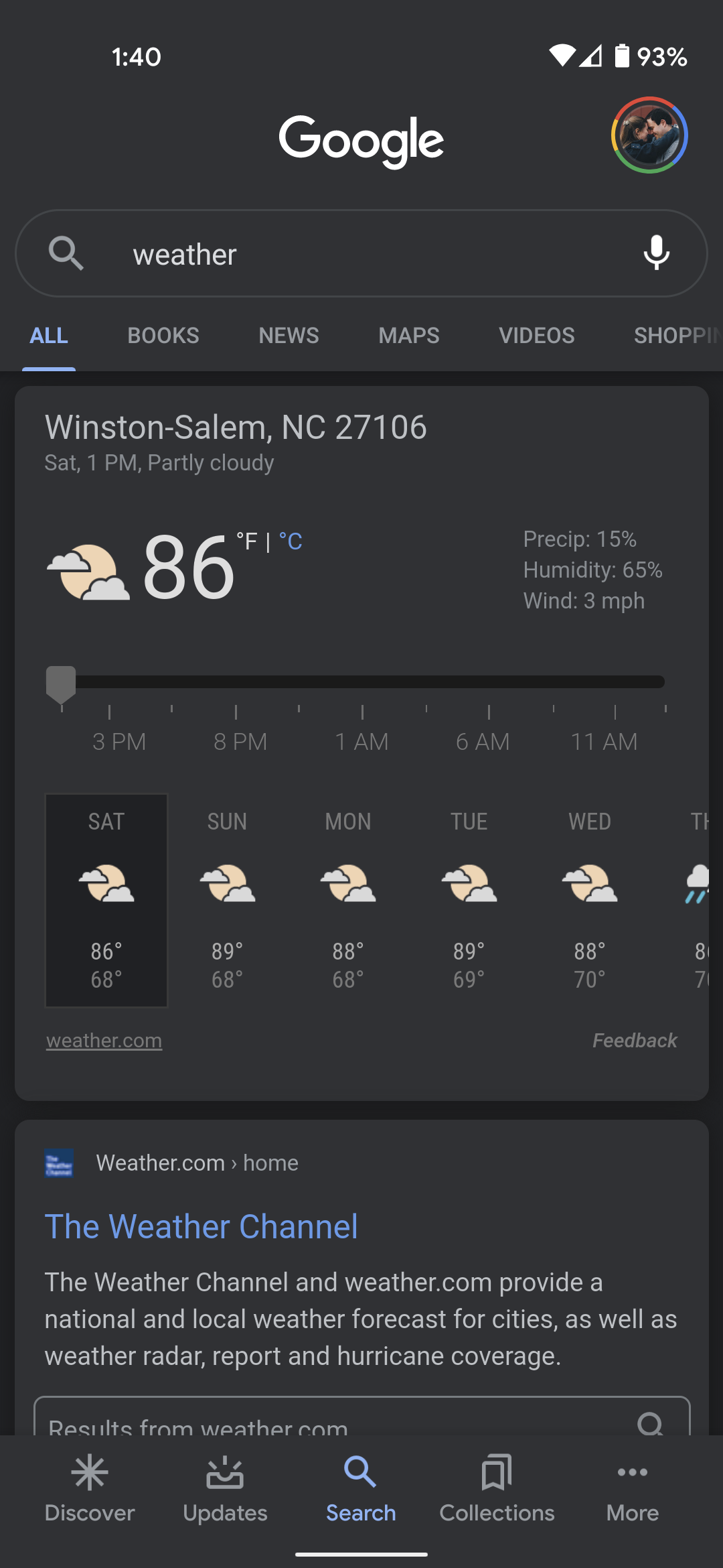 google weather app android disappear